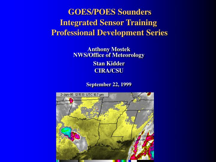 goes poes sounders integrated sensor training professional development series n.