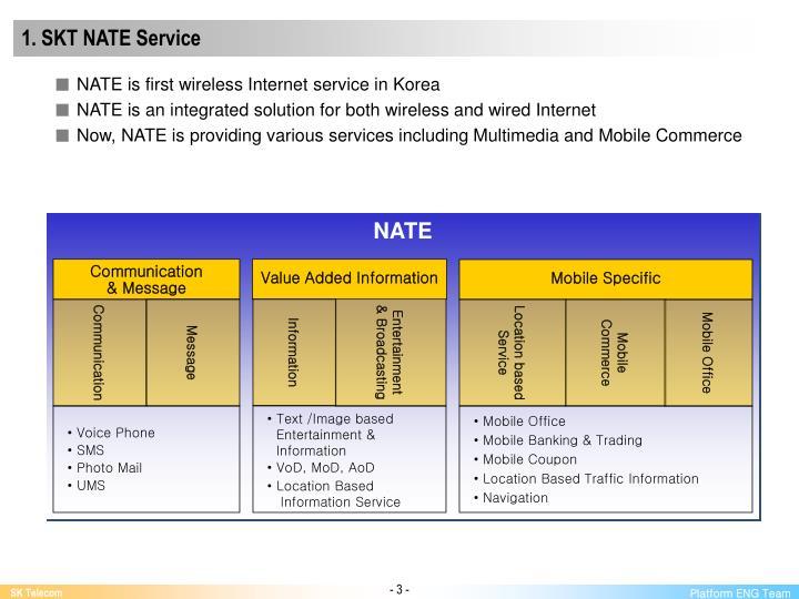 1. SKT NATE Service