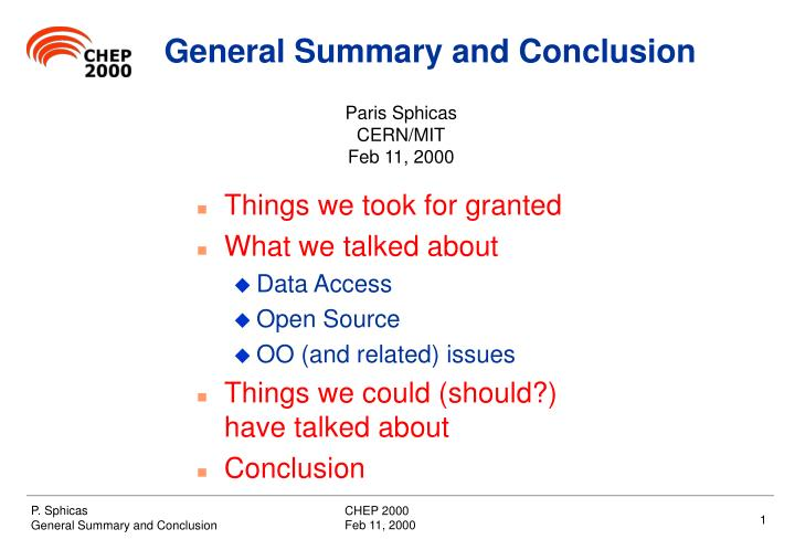 Ppt General Summary And Conclusion Powerpoint Presentation