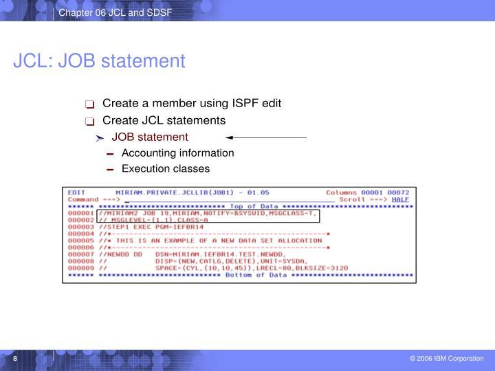JCL: JOB statement