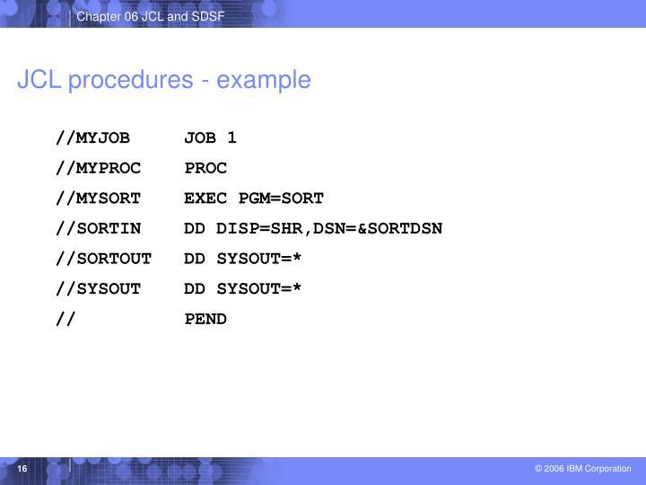 JCL procedures - example
