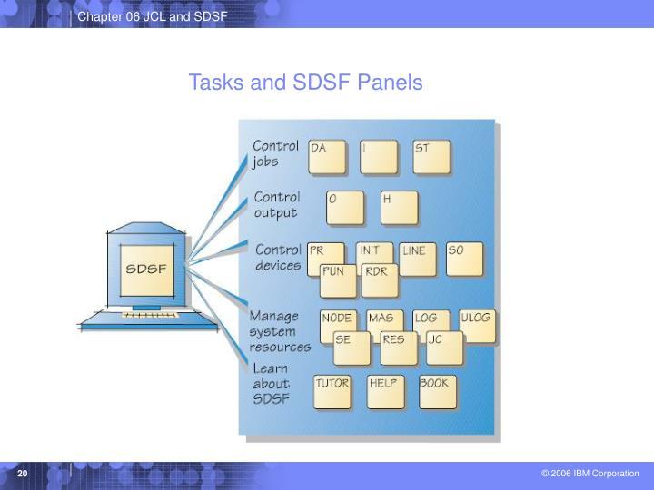 Tasks and SDSF Panels