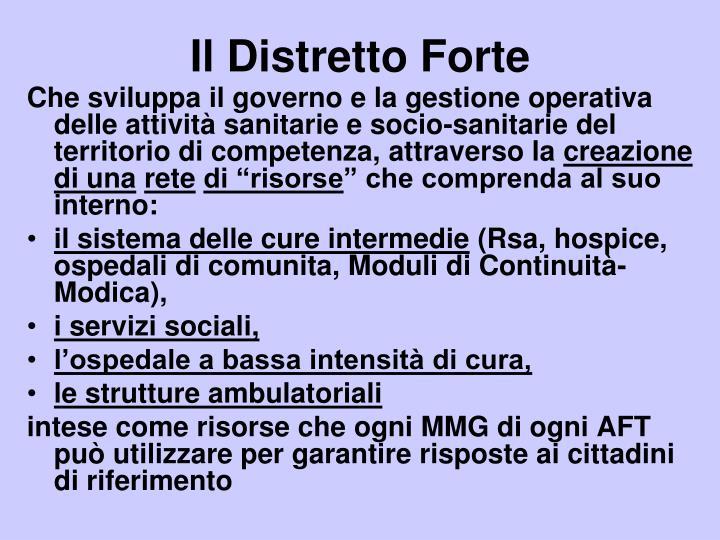 Il Distretto Forte