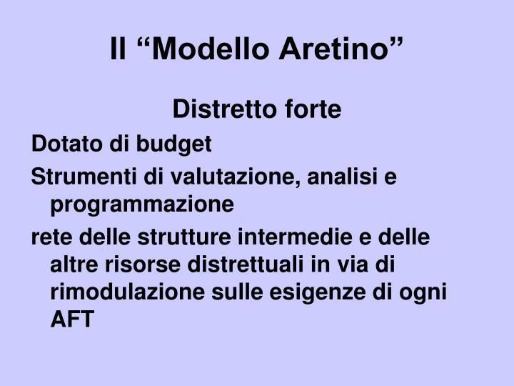 """Il """"Modello Aretino"""""""
