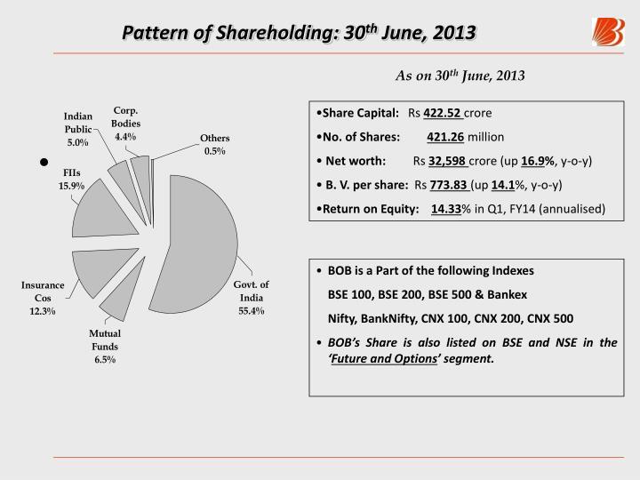 Pattern of Shareholding: 30