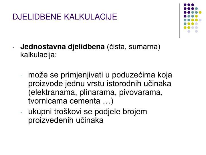 DJELIDBENE KALKULACIJE