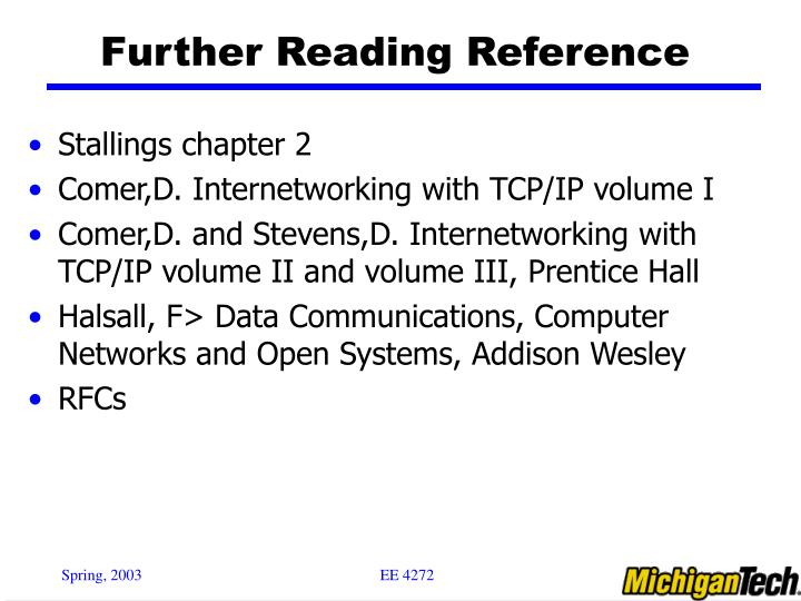 Further Reading Reference