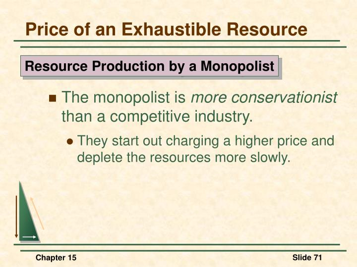 Price of an Exhaustible Resource