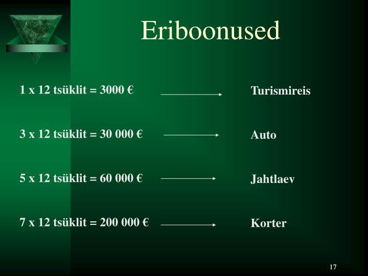 Eriboonused