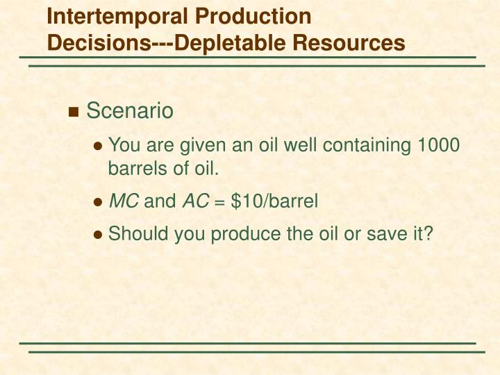Intertemporal Production