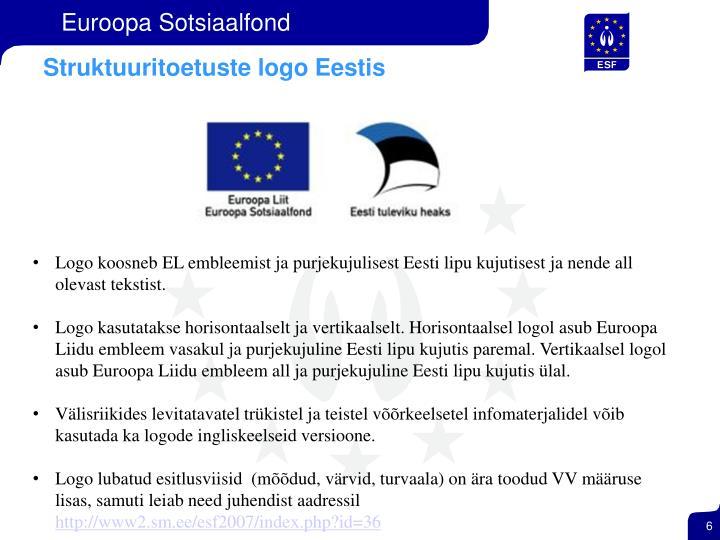 Struktuuritoetuste logo Eestis