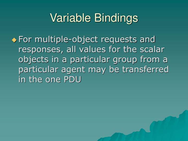 Variable Bindings