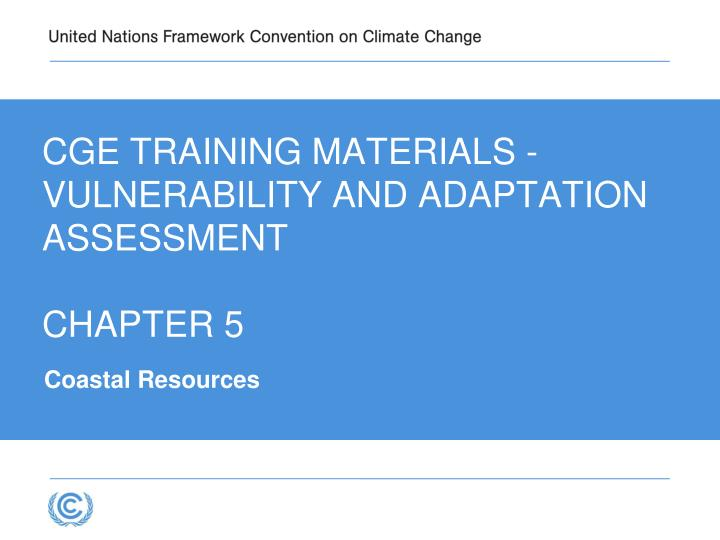 cge training materials vulnerability and adaptation assessment chapter 5 n.