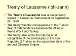 treaty of lausanne loh zann
