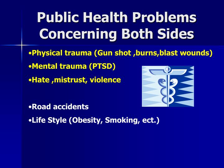 Public Health Problems Concerning Both Sides