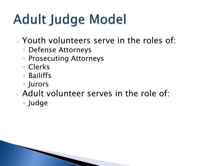 Adult Judge Model