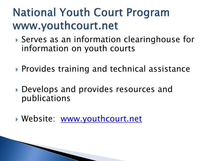 National Youth Court Program