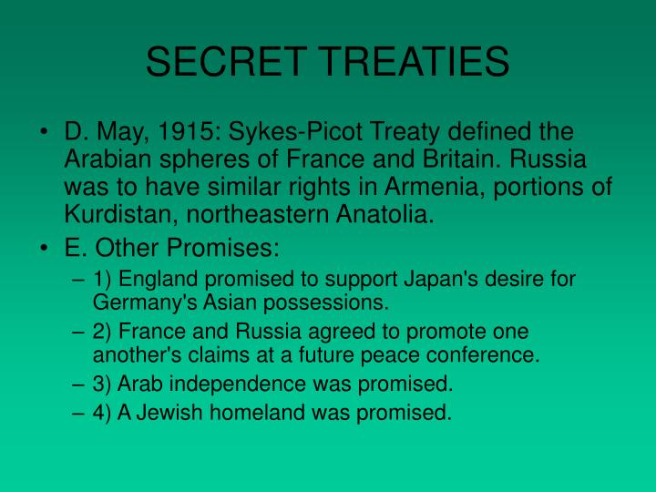 SECRET TREATIES