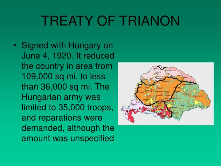 TREATY OF TRIANON