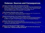 violence sources and consequences