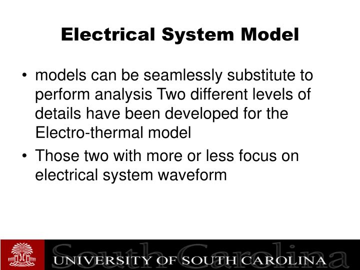 Electrical System Model