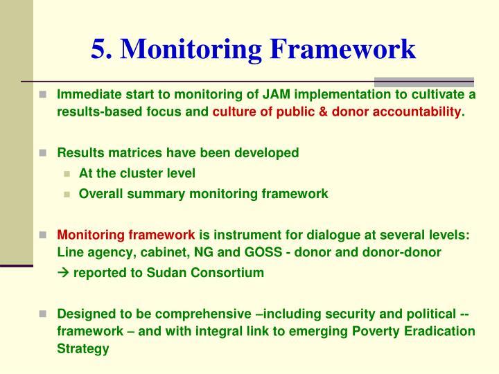 5. Monitoring Framework