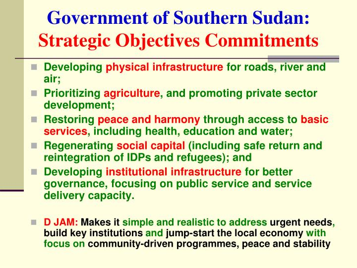 Government of Southern Sudan: