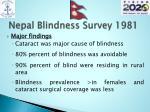 nepal blindness survey 19811