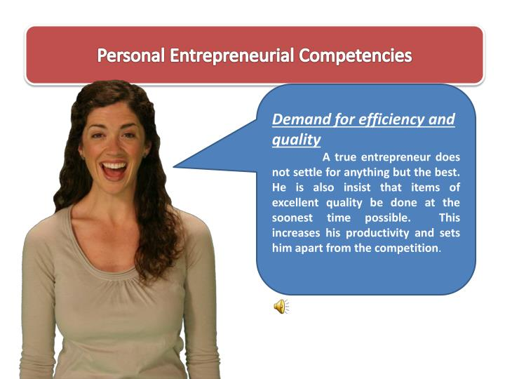 personal entrepreneurial competencies essay Antecedents of entrepreneurial competencies the concept of entrepreneurial competency, competency model and business are basically depend on the personal.