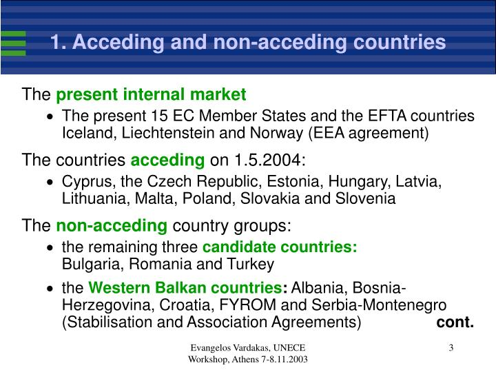 1 acceding and non acceding countries