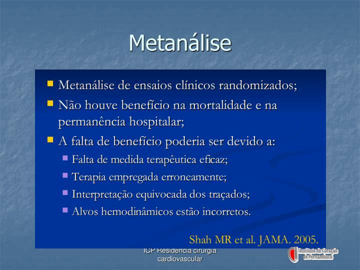 Metanálise