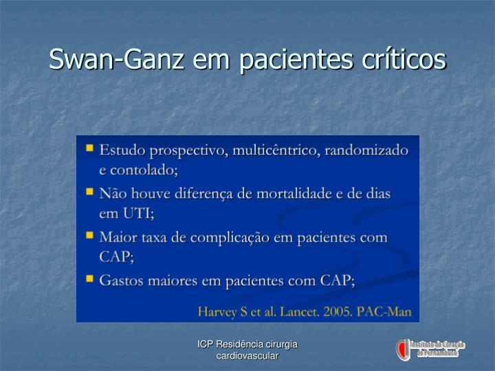 Swan-Ganz em pacientes críticos