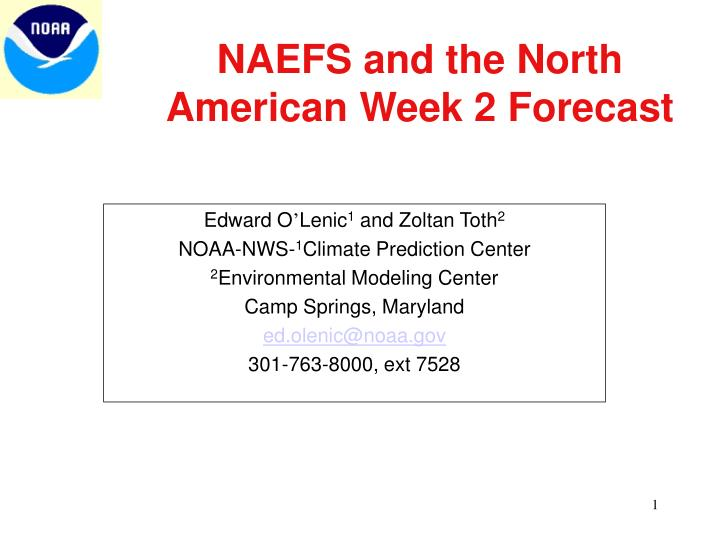 Naefs and the north american week 2 forecast