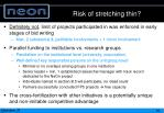 risk of stretching thin
