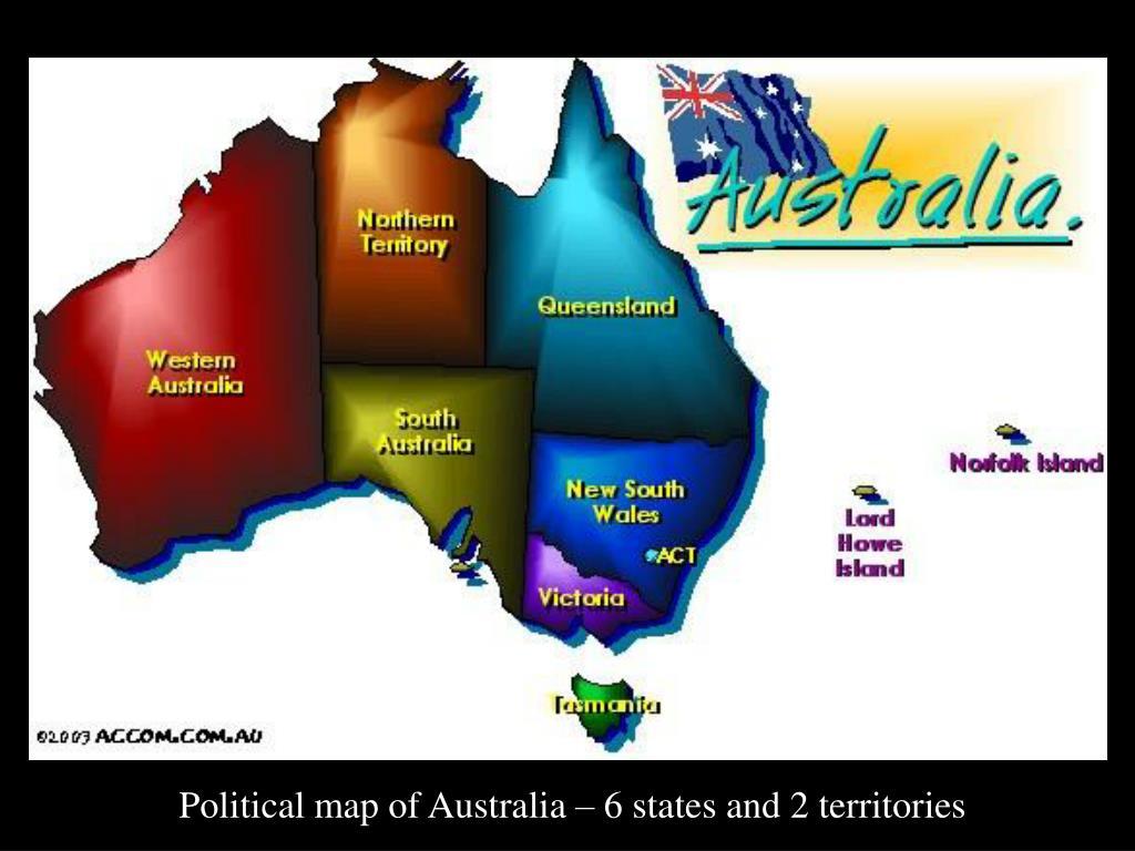 Australia Map 6 States.Ppt Australia Powerpoint Presentation Id 4577882
