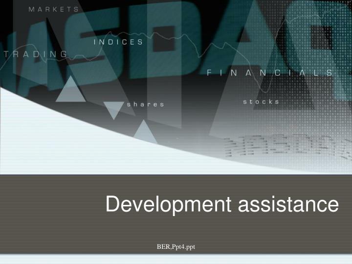 Development assistance