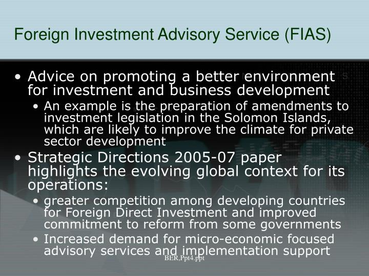 Foreign Investment Advisory Service
