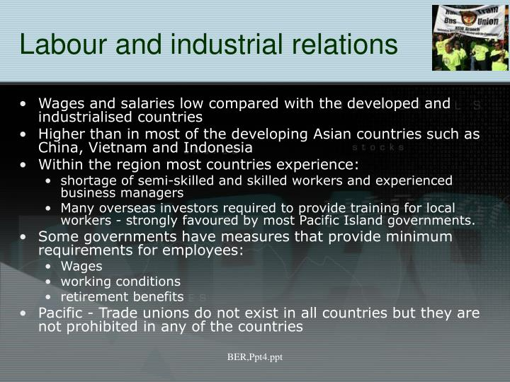 Labour and industrial relations