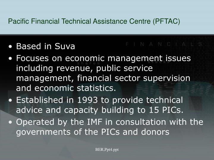 Pacific Financial Technical Assistance Centre (PFTAC)
