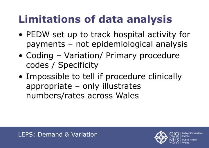 Limitations of data analysis