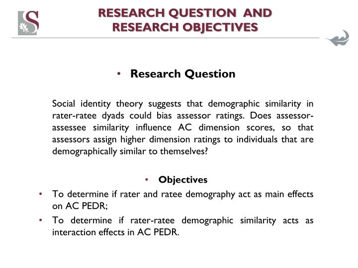 RESEARCH QUESTION  AND