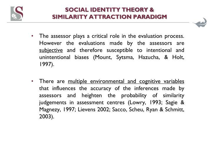Social identity theory similarity attraction paradigm