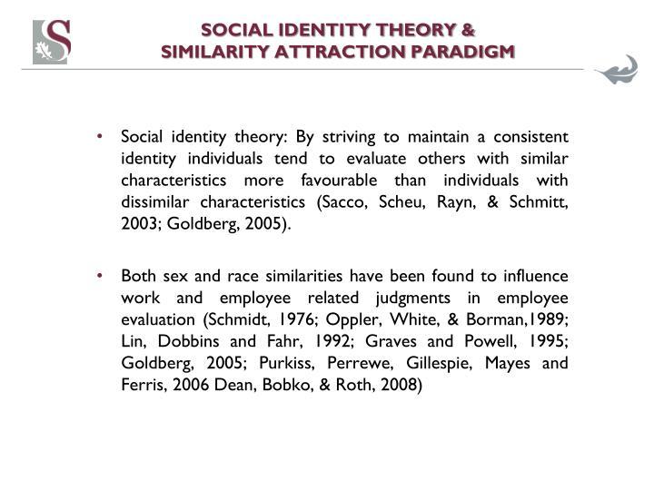Social identity theory similarity attraction paradigm1