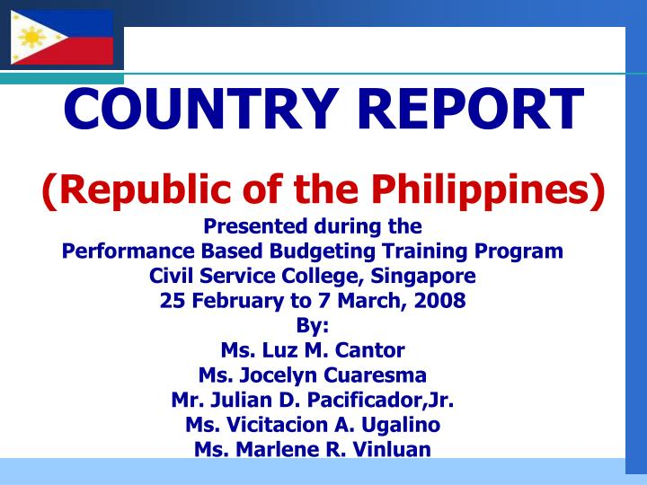 philippines country report 4 2011 seaisi economic, environmental & safety seminar nov 21-22, 2011 • hotel istana, kuala lumpur city centre, malaysia philippines country report.
