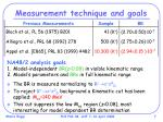 measurement technique and goals