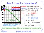raw fit results preliminary