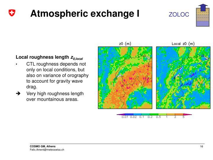 Atmospheric exchange I