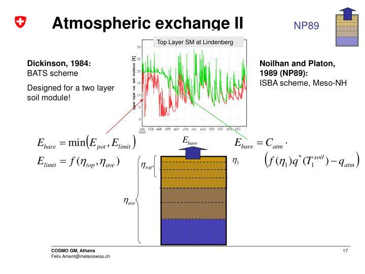 Atmospheric exchange II