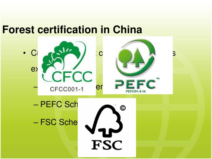 Forest certification in China