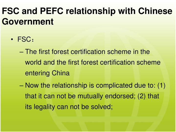 FSC and PEFC relation